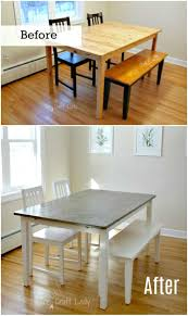 diy dining room table makeover. Easy DIY Concrete Dining Table Top And Set Makeover Diy Room