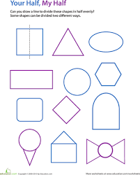 Draw The Line Of Symmetry Symmetry Worksheets Geometry
