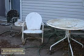 metal outdoor patio furniture antique vintage chairs how to clean