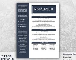 Gallery Of Resume Template Cv Professional Free Cover Letter One