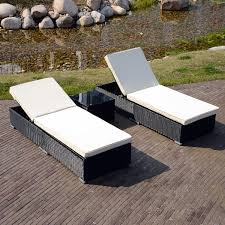 image outdoor furniture chaise. Patio Adjustable Rattan Wicker Chaise Lounge Cushioned Outdoor Deck Furniture Image