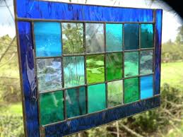 large framed stained glass panels window designs