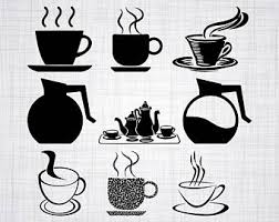 coffee pot silhouette.  Coffee Coffee SVG Bundle Pot SVG Clipart Cut Files For  Silhouette For Cricut Vector Svg Dxf Png Design Throughout Silhouette P
