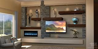 Built In Drywall Shelves Custom Media Wall Home Entertainment Center Design O Dagr Design