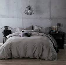 dark grey linen duvet cover light grey duvet cover black bag on the