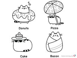 Pusheen Coloring Pages Beach Essentials Free Printable Coloring Pages