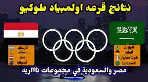 نتائج قرعه اولمبياد طوكيو 2021💥مصر والسعودية في مجموعات المووووت💥 -  YouTube