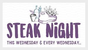 Every Wednesday… <b>Steak Night</b> – The Lysander Arms
