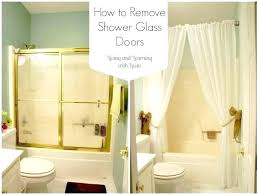 shower curtain or glass door sliding vs net for replace with inspirations barn small bathroom over