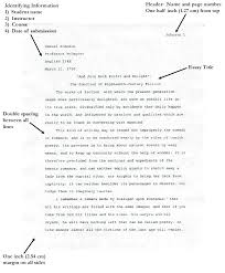 Apa Essay Format Sample Top Essay Writing Sample Abstract Of