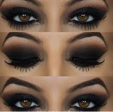 this is by way the most sultry and y makeup idea that goes well with black dress in fact smokey black eyes is the cult clic that plements several