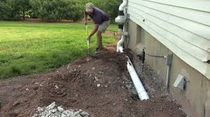 Basement Insulation How To Install Drainage Pipe DIY YouTube - Exterior drain pipe