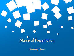 Blue Powerpoint Theme White Flat Squares On Blue Powerpoint Template Backgrounds