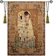 kiss v by gustav klimt large tapestry