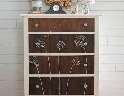 painted dresser ideasDandelion Hand Painted Dresser  Start at Home Decor