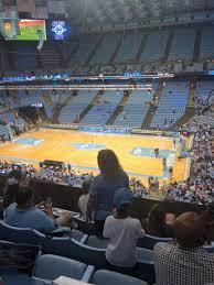 Tar Heels Basketball Seating Chart Dean E Smith Center Interactive Seating Chart