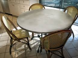 custom made round concrete table tops