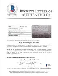 Harry Houdini Signed Houdini Picture Corporation Stock Certificate