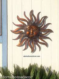 image is loading large metal sun wall decor rustic garden art  on rustic metal wall sculpture with large metal sun wall decor rustic garden art indoor outdoor patio