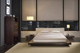Bedroom Furniture Sets Modern Bedroom Sets Marquee Leather Platform Bed With Led Lights