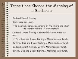 transitional sentences transition words transition words are words that ppt video
