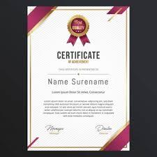 formato mencion de honor plantilla para diplomas y certificados fotos y vectores gratis