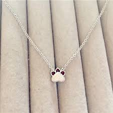 whole new design real pure 925 sterling silver lovely cat paw pendant necklace silver statement jewelry for women gold chains for men name pendant