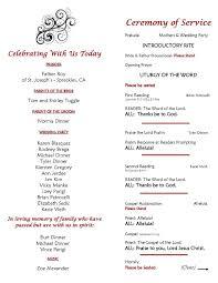 Ceremony Program Template Catholic Wedding Ceremony Program