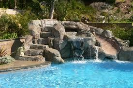 inground pool waterfalls. Swan Pools Swimming Pool Company Waterfalls Tropical Inground
