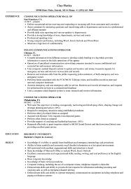 Communications Operator Resume Samples Velvet Jobs