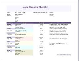 Weekly House Cleaning Schedule Template Weekly House Cleaning