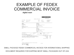Fedex International Commercial Invoice Sample Filename – Purdue-Sopms