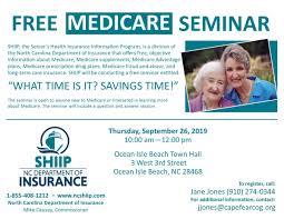 The commissioner is the head of the north carolina department of insurance, serves as a member of the council of state, and is also the state fire marshall. Free Medicare Seminar Cape Fear Council Of Governments