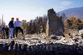 California, Nevada governors tour ...