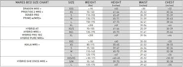 Us Divers Size Chart Us Divers Bcd Size Chart Best Picture Of Chart Anyimage Org