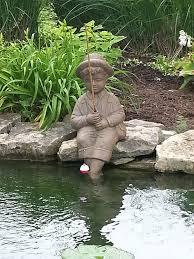 com fishing boy cast stone statue sculpture pond and garden decor accent great garden gift idea garden outdoor