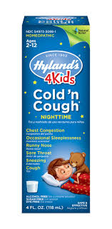 Hyland S 4kids Cold N Cough Nighttime Dosage Chart Hylands 4 Kids Cold N Cough Nighttime Ages 2 12 4 0 Fl Oz Walmart Com