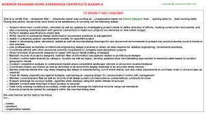certificate of interior design.  Certificate More Images Of Work Experience For Interior Design Intended Certificate Of I