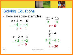 9 examples of one step equations