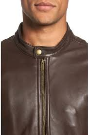 cole haan lambskin leather jacket mens smooth lamb car coat men brown