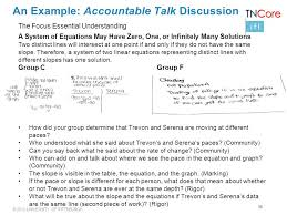 38 an example accountable talk discussion the focus essential understanding a system of equations may have