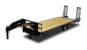 standard 14000 gvwr flatbed gooseneck trailer by kaufman trailers Trailer Wiring Kit at Trailer Wiring Harness Kaufman
