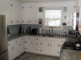 Antique White Cabinets With Grey Walls Kutsko Kitchen Also Appealing