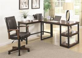 l shaped desk for two. Beautiful For Marple 2 Piece LShaped Desk In Two Tone Brown And Black Finish By Coaster   801242 For L Shaped O