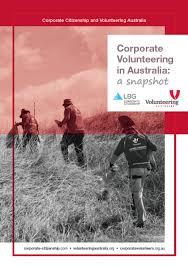 Online Snapshot Corporate Volunteering Australia A Snapshot Lbg Online