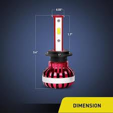 Nilight LED Headlight Bulb <b>2PCS</b> 30W <b>H7 Super Bright</b> 6000K ...