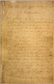 Image result for President Abraham Lincoln issued a preliminary Emancipation Proclamation, which sets a date for the freedom of more than 3 million black slaves