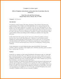 gallery of research report writing sample sample paper apa style  8 samples of report writing park attendant for reporting writing examples sample report