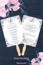 55 best wedding program fans diy printable templates images on