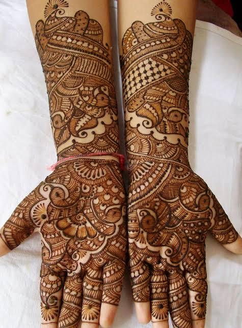 dulhan mehndi designs for hands 2012